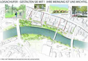 Entwurf Neugestaltung Loisach-Westufer Wolfratshausen