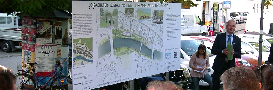 Entwurf Neugestaltung Loisach-Westufer