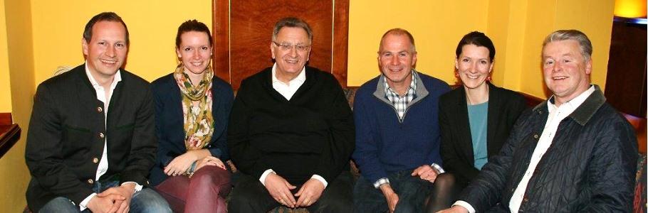 Kleine Wahlparty 17.03.2014 der Bürgervereinigung Wolfratshausen e.V., nach der Stimmenauszählung.