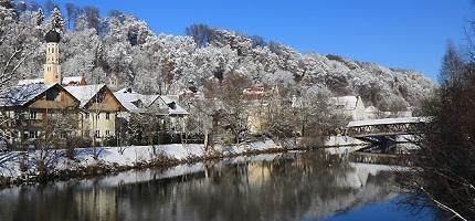 Wolfratshausen im Winter