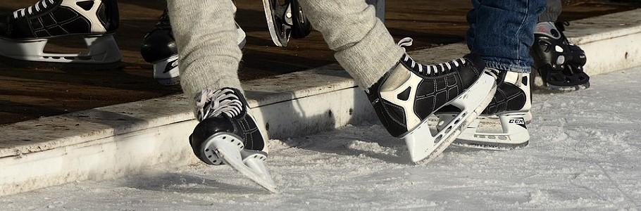 Eislaufen am Loisachufer - Eiszeit Wolfratshausen