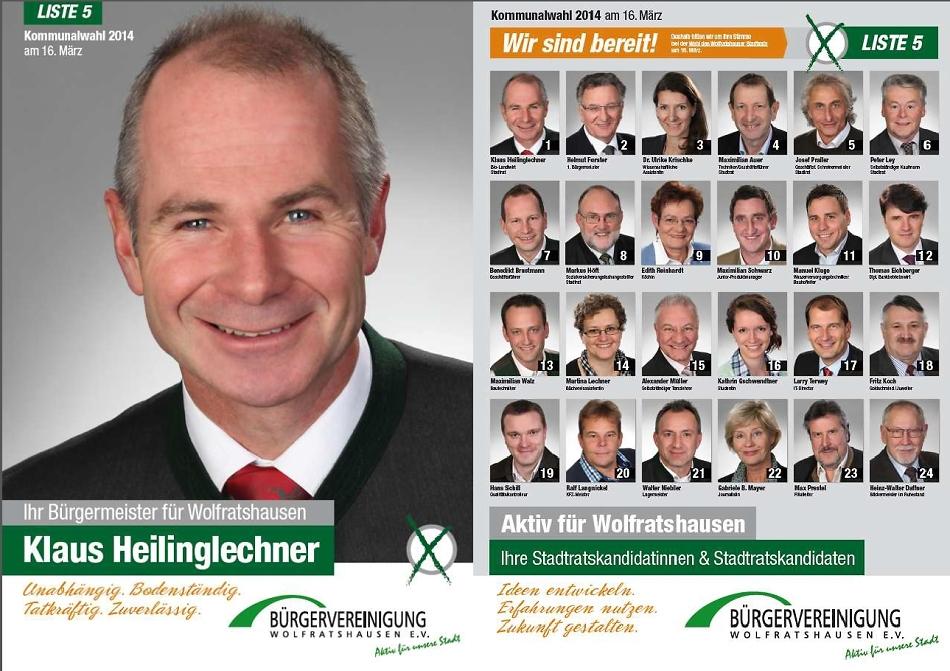 Wahlkampf – Kommunalwahl März 2014