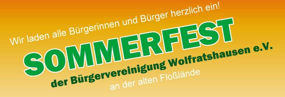 Sommerfest der Bürgervereinigung Wolfratshausen e.V.