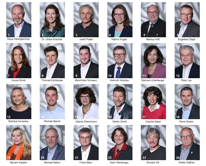 Stadtratskandidatinnen und Stadtratskandidaten der Bürgervereinigung Wolfratshausen e.V.